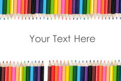 Conseil de couleur de crayon Photos libres de droits
