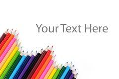 Conseil de couleur de crayon Images libres de droits