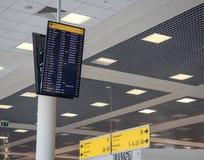 Conseil de départ à l'aéroport de Moscou Photos libres de droits