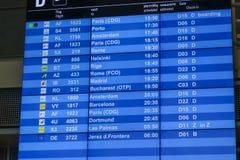 Conseil de départ à l'aéroport de Munich Photographie stock