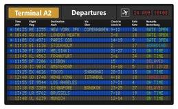 Conseil de départ d'aéroport Images libres de droits