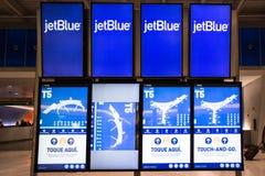 Conseil de départ d'arrivée de JetBlue Image libre de droits