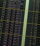Conseil de départ dans l'aéroport Image stock