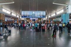 Conseil de départ dans l'aéroport international de kilolitre Départ Hall Mala Image stock
