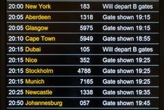 Conseil de départs de vols Photo libre de droits