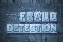 Conseil de détection de fraude photographie stock