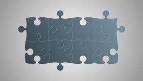 Conseil de Grey Pieces Puzzle Signboard Story Illustration Libre de Droits