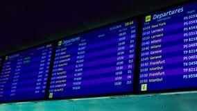 Conseil de l'information dans l'aéroport Images libres de droits