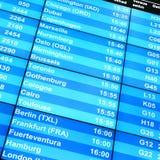 Conseil de l'information de vol Photographie stock