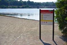 Conseil de l'information de parc image stock