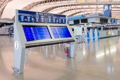 Conseil de l'information de passagers à l'intérieur de l'aéroport international de Kansai Photos libres de droits