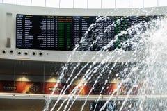 Conseil de l'information pour des passagers à l'aéroport de Ben Gurion l'israel Image stock