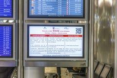 Conseil de l'information pour des voyageurs comment éviter d'obtenir EBOLA Images stock
