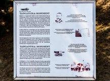 Conseil de l'information pour la reproduction de monument de voyage de la Tanzanie dedans pré photo libre de droits