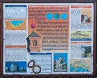 conseil de l'information de tour de Temps-boule chez Victoria et Alfred Waterfr images libres de droits