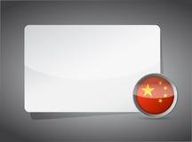Conseil de présentation de la Chine Photographie stock libre de droits