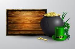Conseil de symbole de jour de St Patrick s Images libres de droits