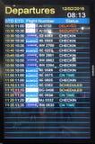 Conseil de vol à l'aéroport dans Kolkata Photos libres de droits