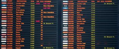 Conseil de vol dans l'aéroport de Venise Image stock