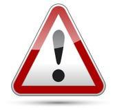 Conseil du trafic de triangle de danger de marque d'exclamation Image libre de droits