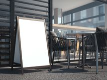 Conseil en bois blanc pour le menu de restaurant rendu 3d Photographie stock libre de droits