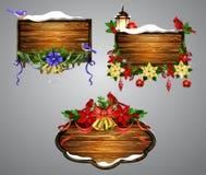 Conseil en bois de Noël de vecteur Images stock