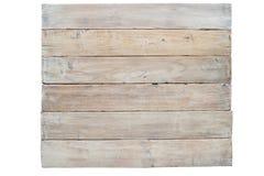 Conseil en bois grunge d'isolement sur le fond blanc photos stock