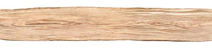 Conseil en bois intéressant sur le fond blanc photo stock