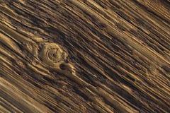 Conseil en bois superficiel par les agents avec un seul noeud photographie stock