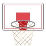 Conseil et anneau de basket-ball Illustration Stock
