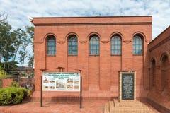 Conseil et plaque de l'information au musée de Talana, commémorant l'Ind images libres de droits