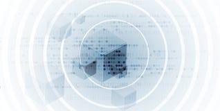 Conseil futuriste abstrait de technologie d'Internet d'ordinateur de circuit illustration de vecteur