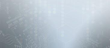 Conseil futuriste abstrait de technologie d'Internet d'ordinateur de circuit illustration stock