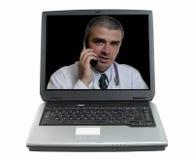 Conseil médical en ligne Photographie stock libre de droits