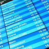 Conseil moderne de l'information de vol Image stock