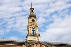 Conseil municipal de Riga, letton : Dôme de Rigas, Lettonie images libres de droits