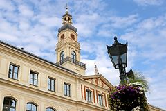 Conseil municipal de Riga, letton : Dôme de Rigas, Lettonie photo stock