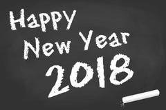 conseil noir pour des salutations de la nouvelle année 2018 Image stock
