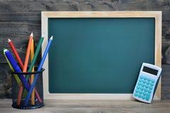 Conseil pédagogique sur la table en bois Image libre de droits