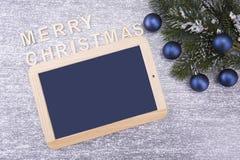 Conseil pour le copyspace Noël et an neuf images stock