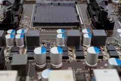 Conseil principal de circuit électronique d'ordinateur images libres de droits
