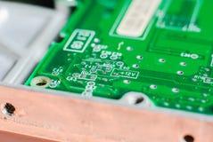 Conseil principal de l'électronique micro Photo libre de droits