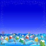 Conseil vide neigeux d'hiver Image libre de droits