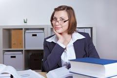 Conseiller commercial féminin Photo stock