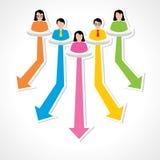 Conseiller créatif d'affaires pour le concept différent de champ illustration stock