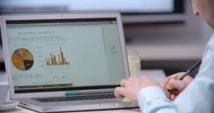 Conseiller d'affaires analysant les chiffres financiers clips vidéos