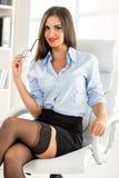 Conseiller sexy d'affaires image stock