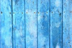 Conseils en bois peints par bleu Photo libre de droits