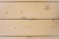 Conseils horizontaux non peints en bois Photo stock