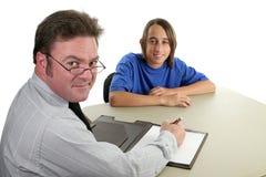 Consejero y estudiante horizontales Foto de archivo